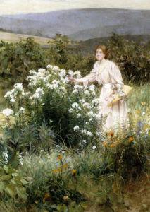 Picking Wild Flowers by Francis Coates Jones