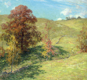 The Red Oak (No. 2) by Willard Leroy Metcalf