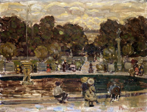 Sailboat Pond, Tuileries Garden by Maurice Prendergast