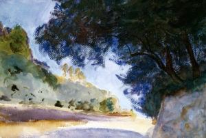 Landscape, Olive Trees, Corfu 1909 by John Singer Sargent