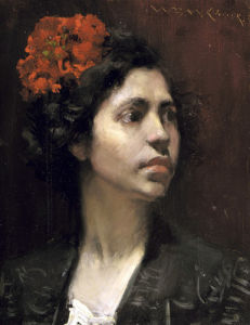 Spanish Girl by William Merritt Chase
