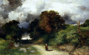 Windy Hilltop - Amagansett by Thomas Moran