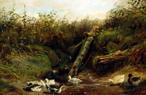 Ducks At A Brook by Arthur Fitzwilliam Tait