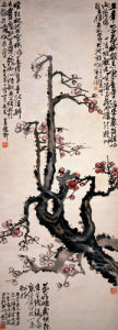 Red Plum Blossoms by Wu Changshuo