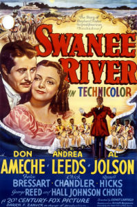 Swanee River, 1939, Twentieth Century Fox by US Movie Poster