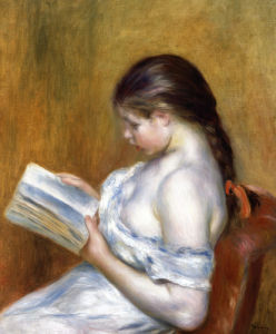 Reading by Pierre Auguste Renoir