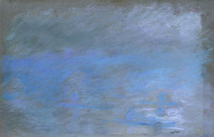 Waterloo Bridge in Fog by Claude Monet