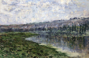 The Seine And The Hills Of Chantemsle by Claude Monet