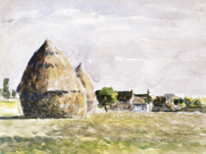 Haystack, Eragny Evening by Camille Pissarro