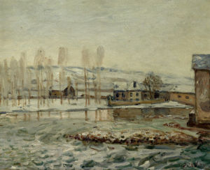 The Mill At Moret by Alfred Sisley