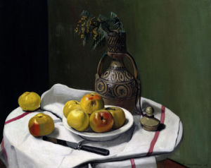 Apples And A Moroccan Vase by Felix Vallotton