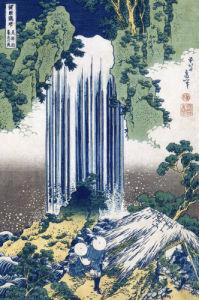Yoro Waterfall, Mino Province by Katsushika Hokusai