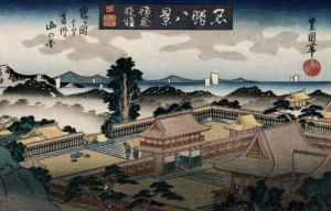 'Evening Bell, Kamakura by Utagawa Toyokuni