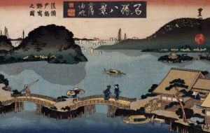 Twilight, Atami by Utagawa Toyokuni