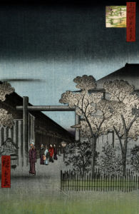 Dawn In The Yoshiwara by Ando Hiroshige