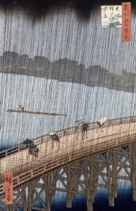 'Ohashi, Sudden Shower At Atake by Ando Hiroshige