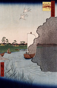 'Scattered Pine Along Tone River by Ando Hiroshige