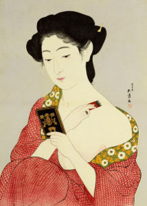 A Woman Powdering Her Neck by Hashiguchi Goyo
