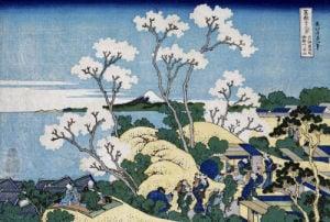 'Fuji From Gotenyama At Shinagawa On The Tokaido by Katsushika Hokusai