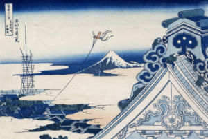 Honganji Temple At Asakusa In The Eastern Capital by Katsushika Hokusai