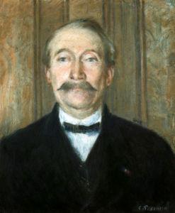 Portrait Of Pere Papeille, Pontoise by Camille Pissarro