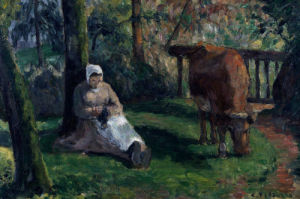 Watching The Cattle, Montfoucault by Gardeuse De Vache