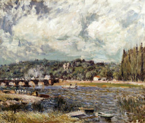 Le Pont De Sevres by Alfred Sisley