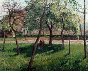 The Enclosure At Eragny, Un Clos A Eragny by Camille Pissarro