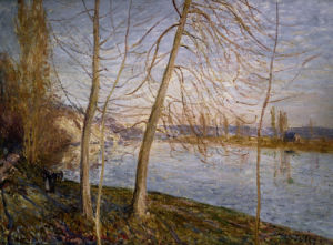Winter Morning  - Veneux by Alfred Sisley