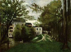The Windmill At The La Roche Guyon by Camille Pissarro