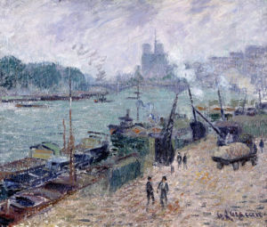 Henry IV Bridge, Paris by Gustave Loiseau