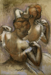 Two Dancers Of The Company Adjusting Their Shoulder Straps by Christie's Images