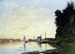 Argenteuil, Late Afternoon by Claude Monet