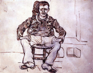 The Zouave, Seated by Vincent Van Gogh
