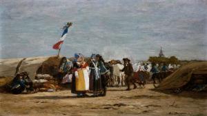 Pardon En Bretagne Dans Le Finistere by Eugene Louis Boudin