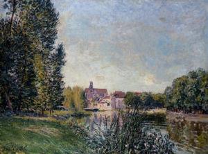 Le Loing Et L'eglise De Moret by Alfred Sisley