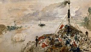Le Bateau De Promenade by Theodore Rousseau