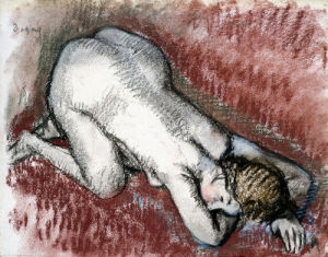 Naked Woman Kneeling by Edgar Degas
