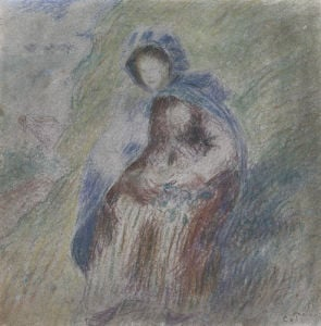 Seated Woman by Camille Pissarro