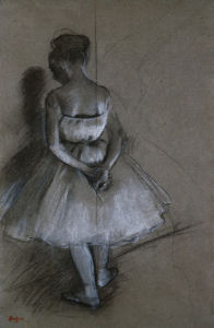 Dancer Standing, Her Hands Crossed Behind Her Back by Edgar Degas