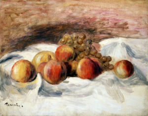 Still Life With Peaches by Pierre Auguste Renoir