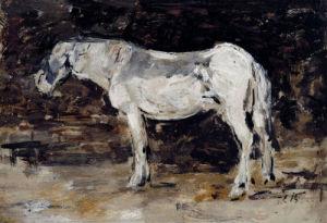White Horse by Eugene Louis Boudin