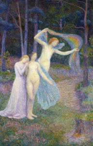 Women Amongst The Trees, Femmes Dans L'Arbre by Hippolyte Petitjean