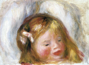 Head Of Coco by Pierre Auguste Renoir
