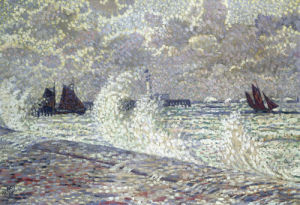 The Sea During Equinox, Boulogne-Sur-Mer by Theodore van Rysselberghe