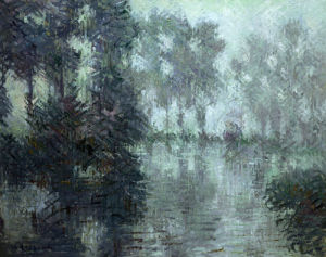 Mist On The River In Winter by Gustave Loiseau