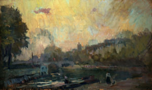 The Banks Of The River Seine by Christie's Images