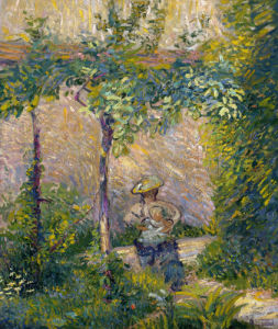 Woman In The Garden by Hippolyte Petitjean