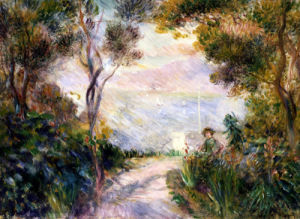 Paysage, Dessus De Cheminee (Vue De Naples) by Pierre Auguste Renoir