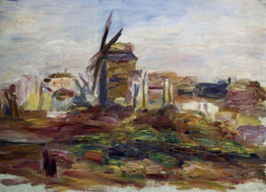 A Windmill by Pierre Auguste Renoir